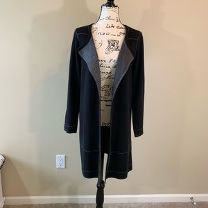 Notations Open Long Black Cardigan Never Worn
